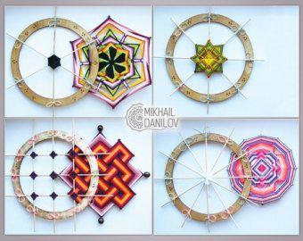 Magischer Kreis 11 Zoll (27cm) Ojo de Dios Mandala Weberei Hilfsgerät durch DanilovMandala #magiccircle