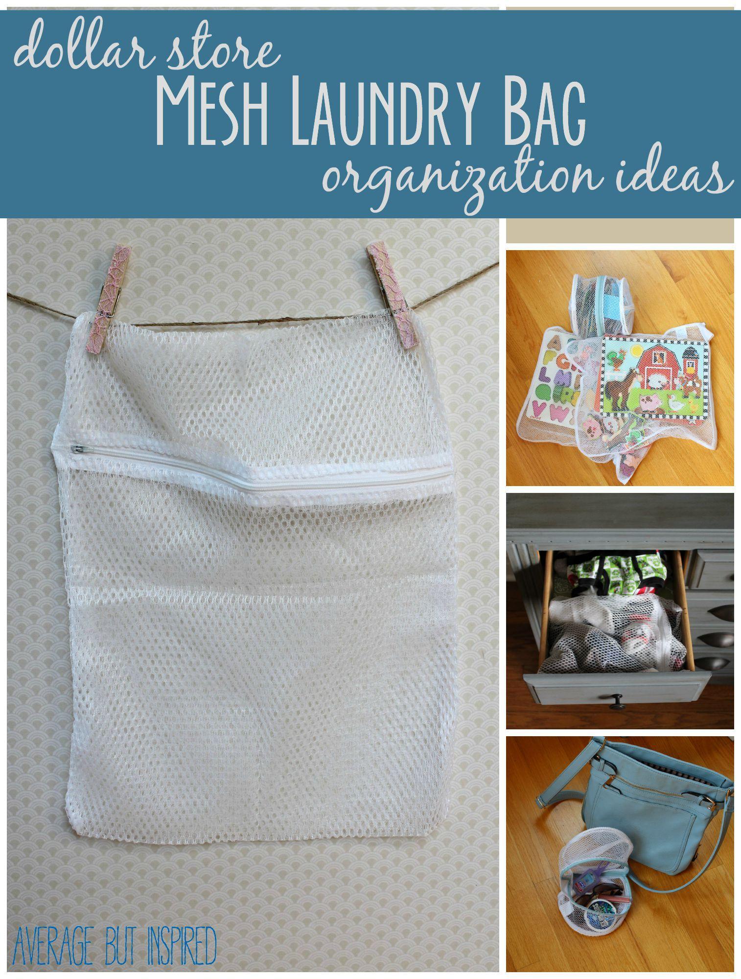Dollar Store Ganization Mesh Laundry Bag Organization Ideas