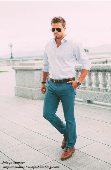 Men s Party wear Style 1 - Turquoise tones - Holiday look for men fd9ce8d517