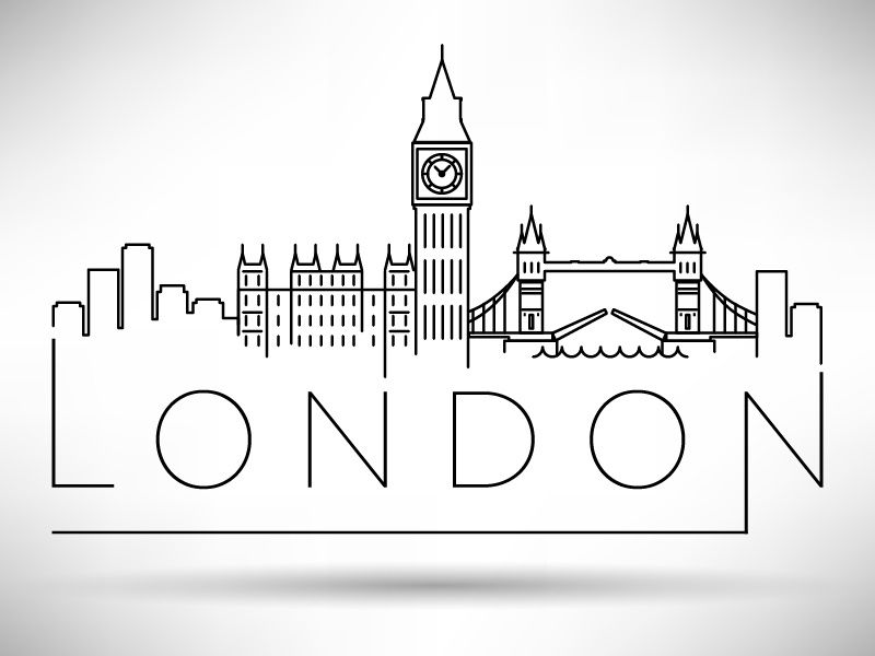 London Calling In 2020 London Drawing Travel Drawing Skyline Silhouette