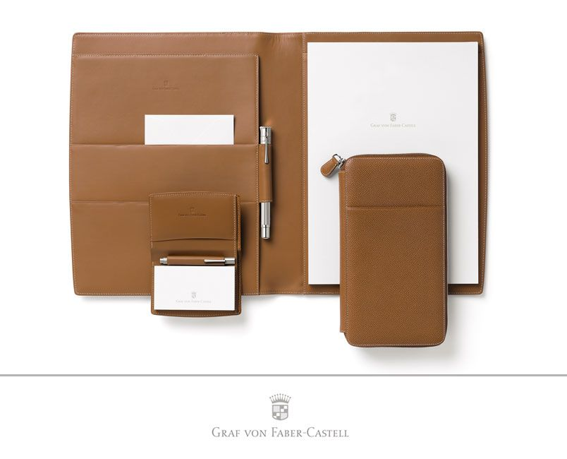The Graf von Faber-Castell personal organizers are unique, thanks to some well thought-out and exclusive details.  The organizer No. I closes with a magnetic catch and contains several pockets for holding photos or loose notes neatly and securely. #leather #craftmanship