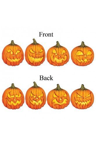 Scary Jack-o-lantern Cutouts - Halloween Party Decoraions - halloween party decorations cheap