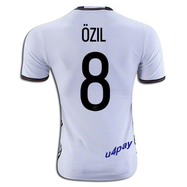 c2f88f980 2016 UEFA Euro Germany Mesut Ozil 8 Youth Home Soccer Jersey ...