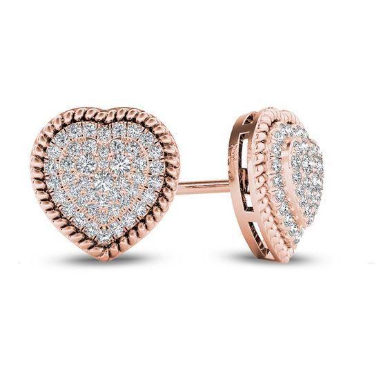 Fine Jewelry 1/4 CT. T.W. Diamond 10K White Gold Tulip Stud Earrings Q3WPcoE
