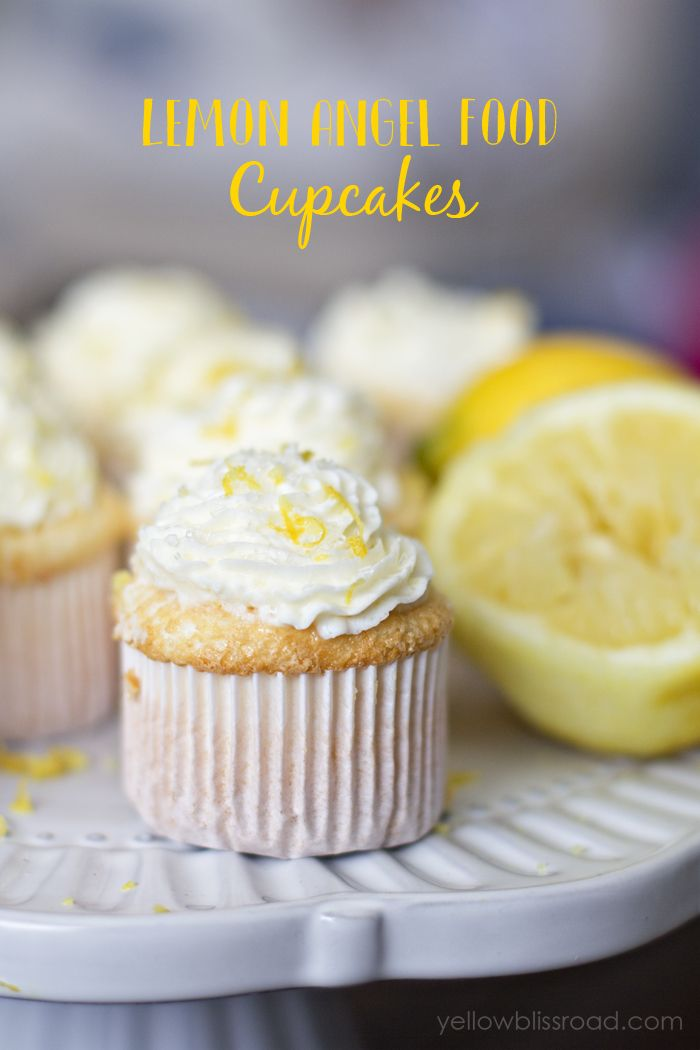 Chocolate cupcakes with toasted coconut whipped cream recipe lemon angel food cupcakes forumfinder Gallery