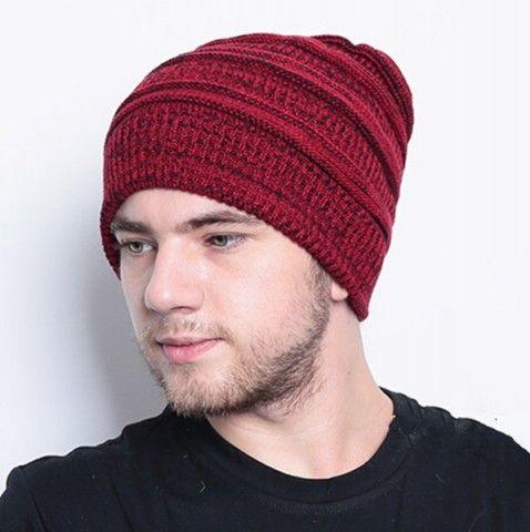 8bce7a73fc966 Mens beanie hats knit patterns double warm winter hats