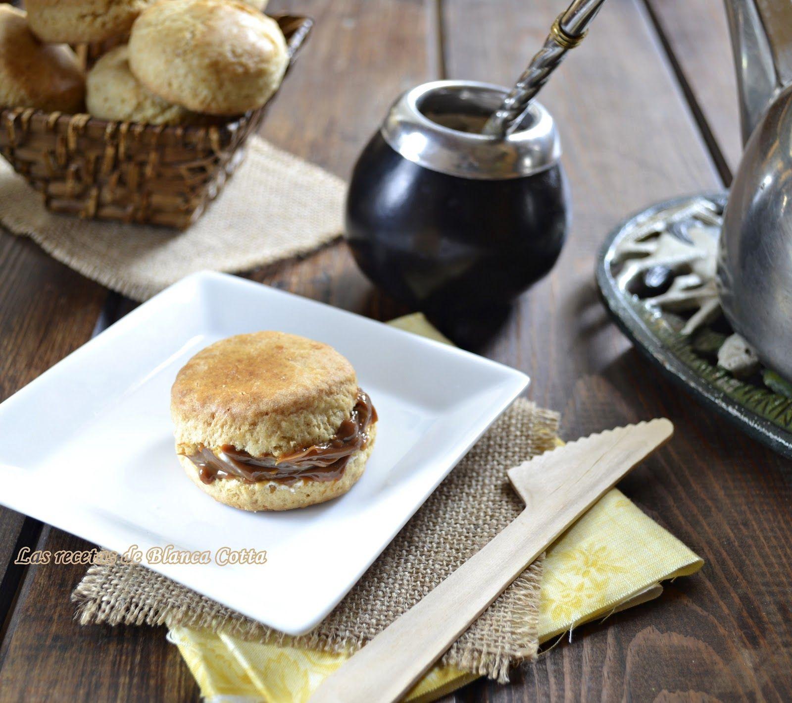 mate y con scones con dulce de leche, receta de Blanca Cotta(cocinera Argentina y de la buenas ) las recetas de ella jamas fallan
