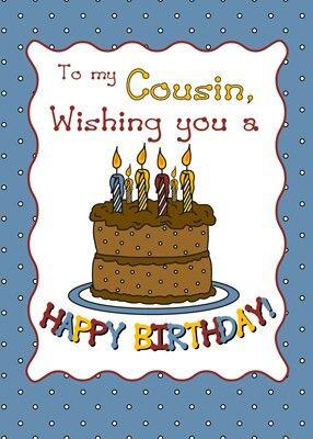 Phenomenal Happy Birthday Image By Zarenda Elliott Happy Birthday Cousin Funny Birthday Cards Online Aboleapandamsfinfo
