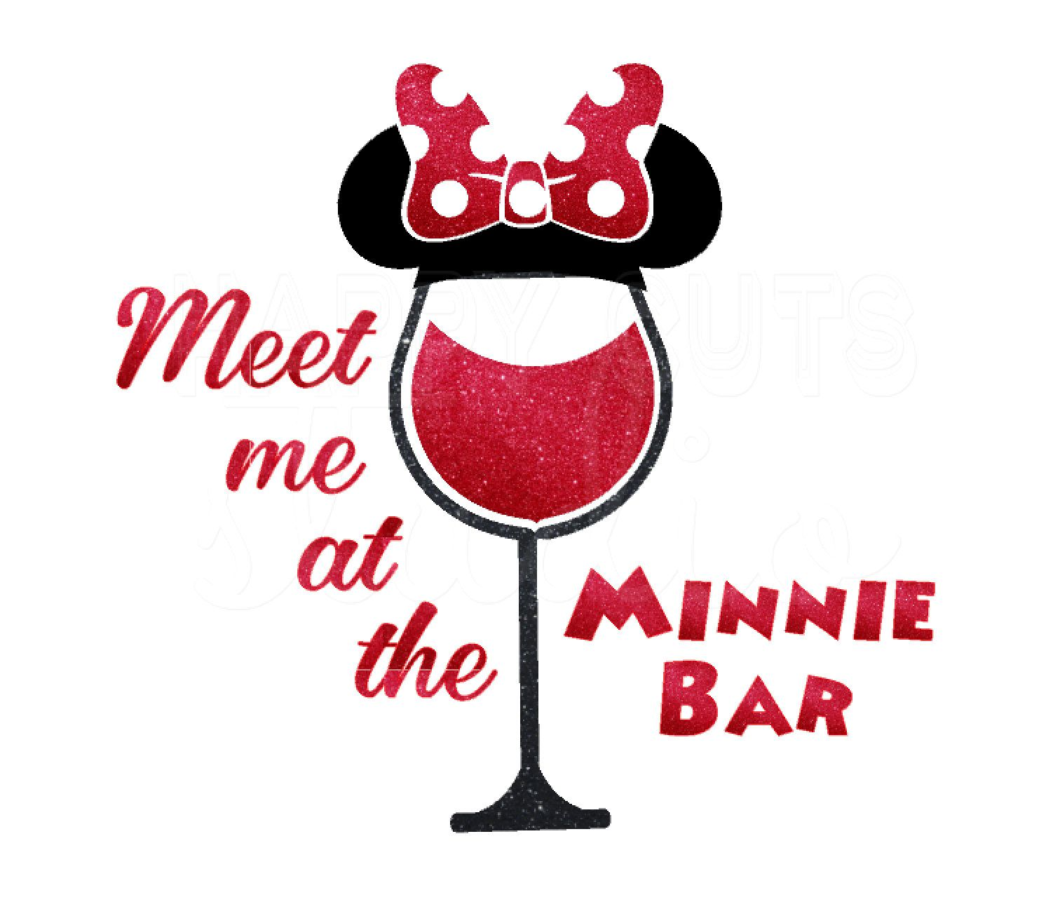 Meet Me At The Minnie Bar Glitter Disney Food And Wine Festival Matching Mom Wife Women S Ladies Girls Trip Disney Iron Disney Trip Shirts Minnie Wine Festival