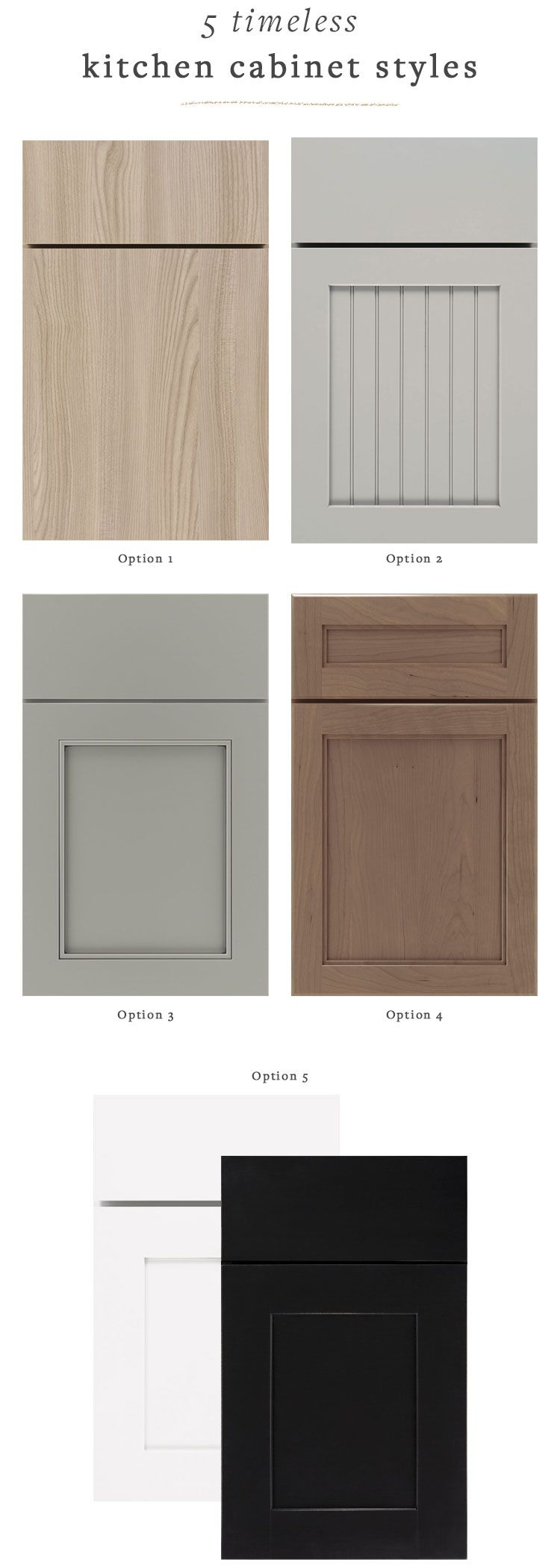 Our Renovation Kitchen Cabinet Door Styles That Will Never Go Out