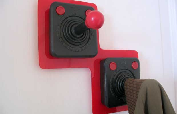 25 Pieces Of Cool Video Game Inspired Furniture14. Atari 2600 Controller  Coat Hangers