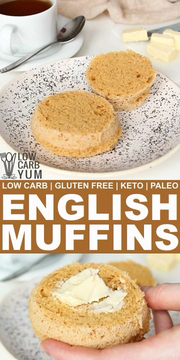 Gluten Free English Muffins in a Minute - Keto Paleo Miss bread with breakfast? It only takes a couple minutes to make gluten free English muffins in a minute. And they are low carb, keto, and paleo friendly! // breakfast low carb // easy low carb breakfast // breakfast paleo // paleo breakfast easy // paleo breakfast quick // breakfast keto // keto breakfast ideas //
