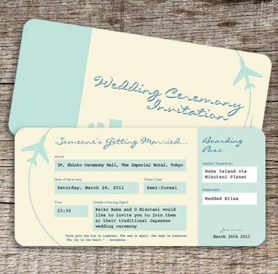 Japanese Wedding Invitations Destination wedding, Wedding and - fake airline ticket maker