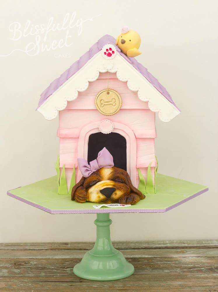 ❥Puppy Party. In the Doghouse cake by Blissfully Sweet no source link