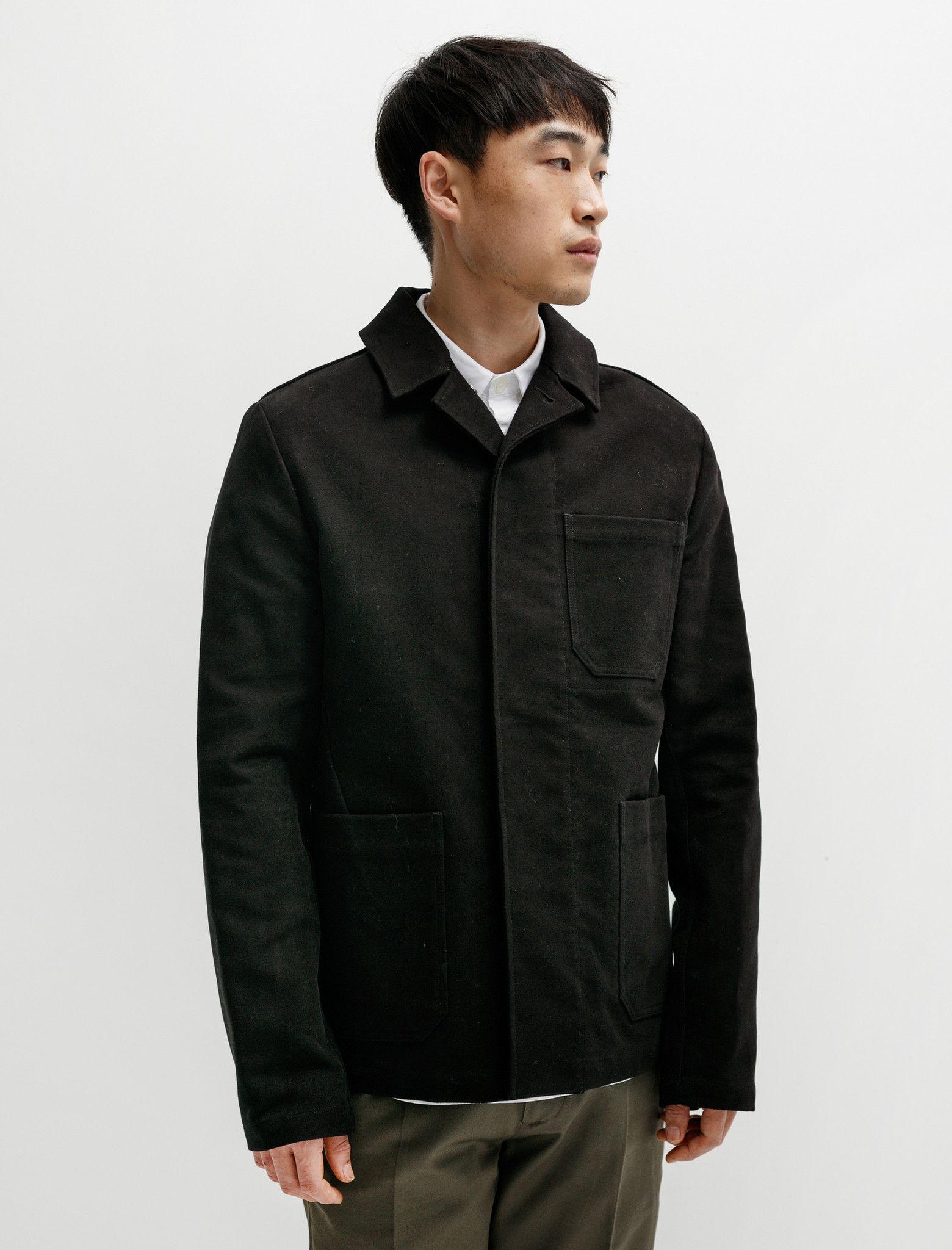 MHL Porter Jacket Heavy Moleskin Black