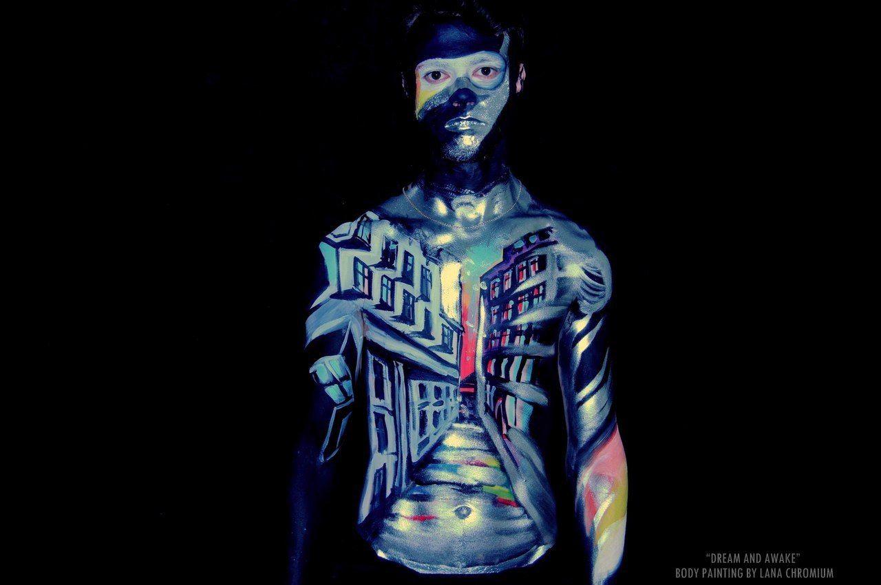 Art By Lana Chromium Dark Event Make Up Face Painting