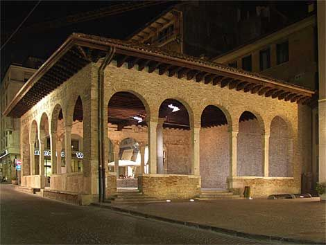 12th century meeting place in Treviso City, Italy that was on the route of the Knights of the Templer & Children's Crusades in Treviso Province, Italy