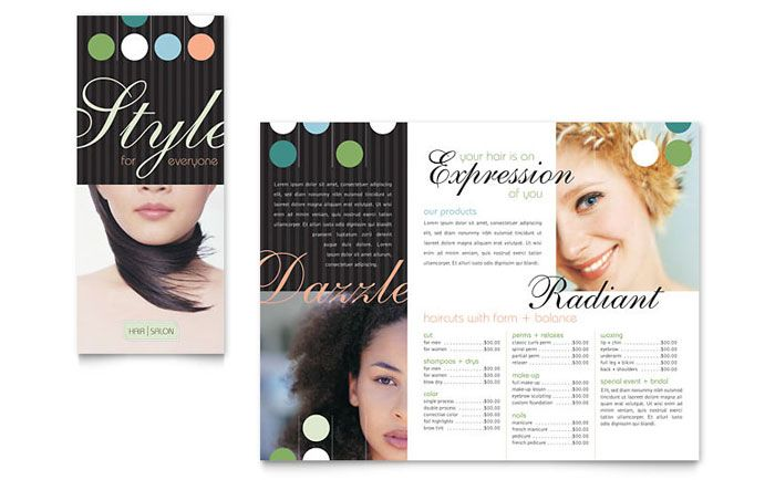 beauty and hair salon brochure design template by stocklayouts