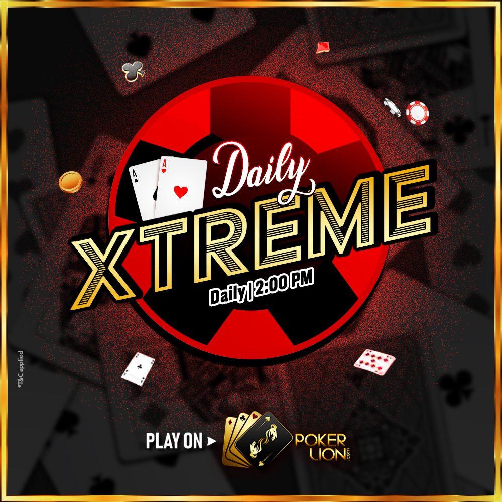 Online Poker Daily Xtreme in 2020 Online poker, Poker