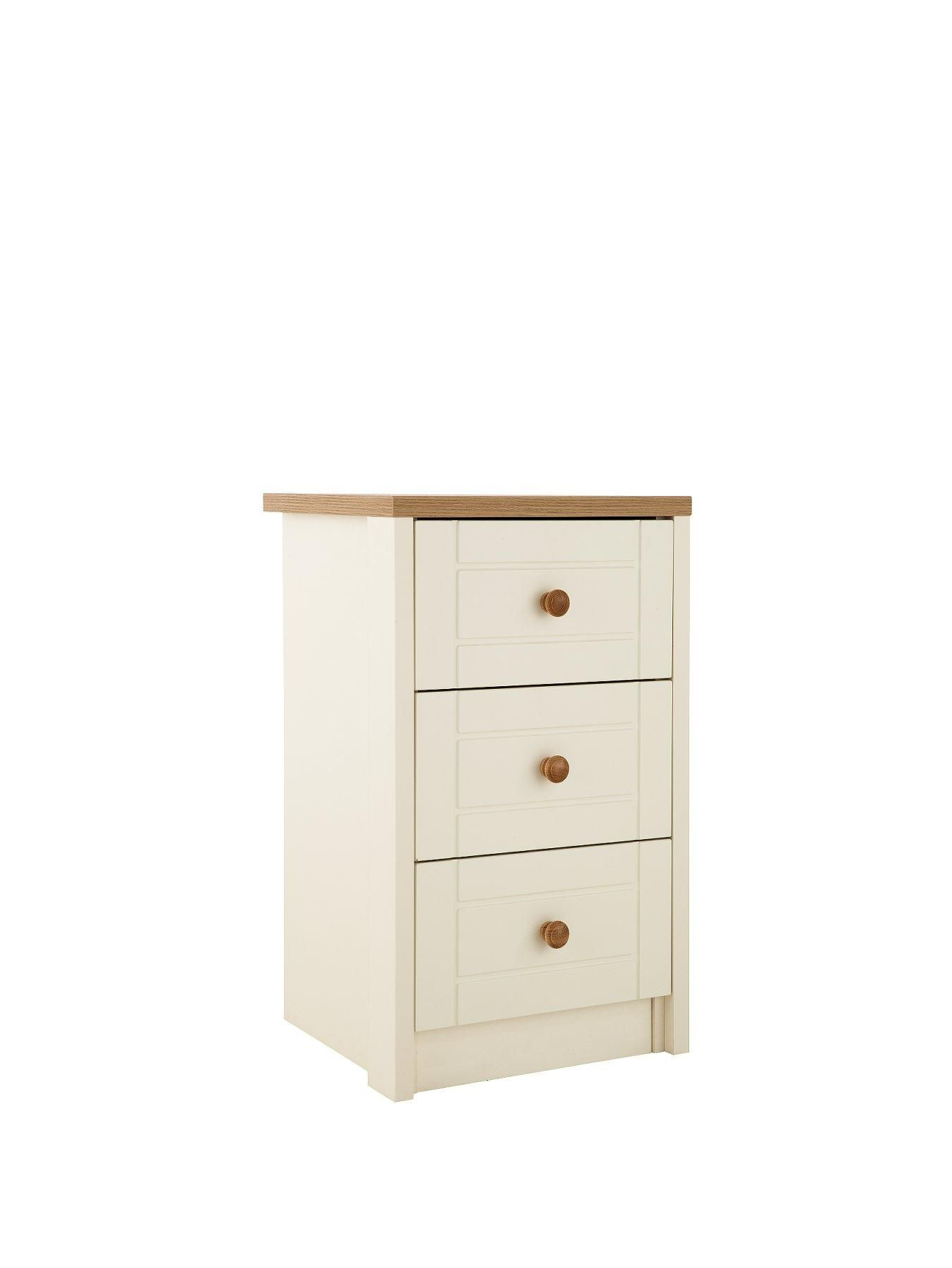 Alderley Ready Assembled 3 Drawer Bedside Chest