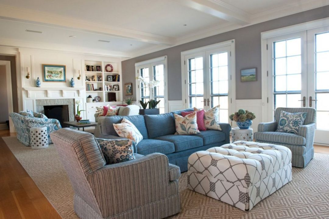 45 Fabulous Beach Themed Living Room For Guests Feel More Comfortable Home Diy Ideas Theme Brown And Blue Gray Design