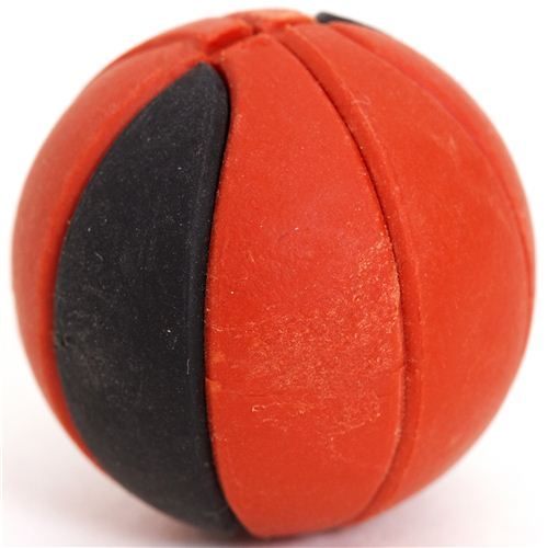 cool brown and black basketball eraser by Iwako 1