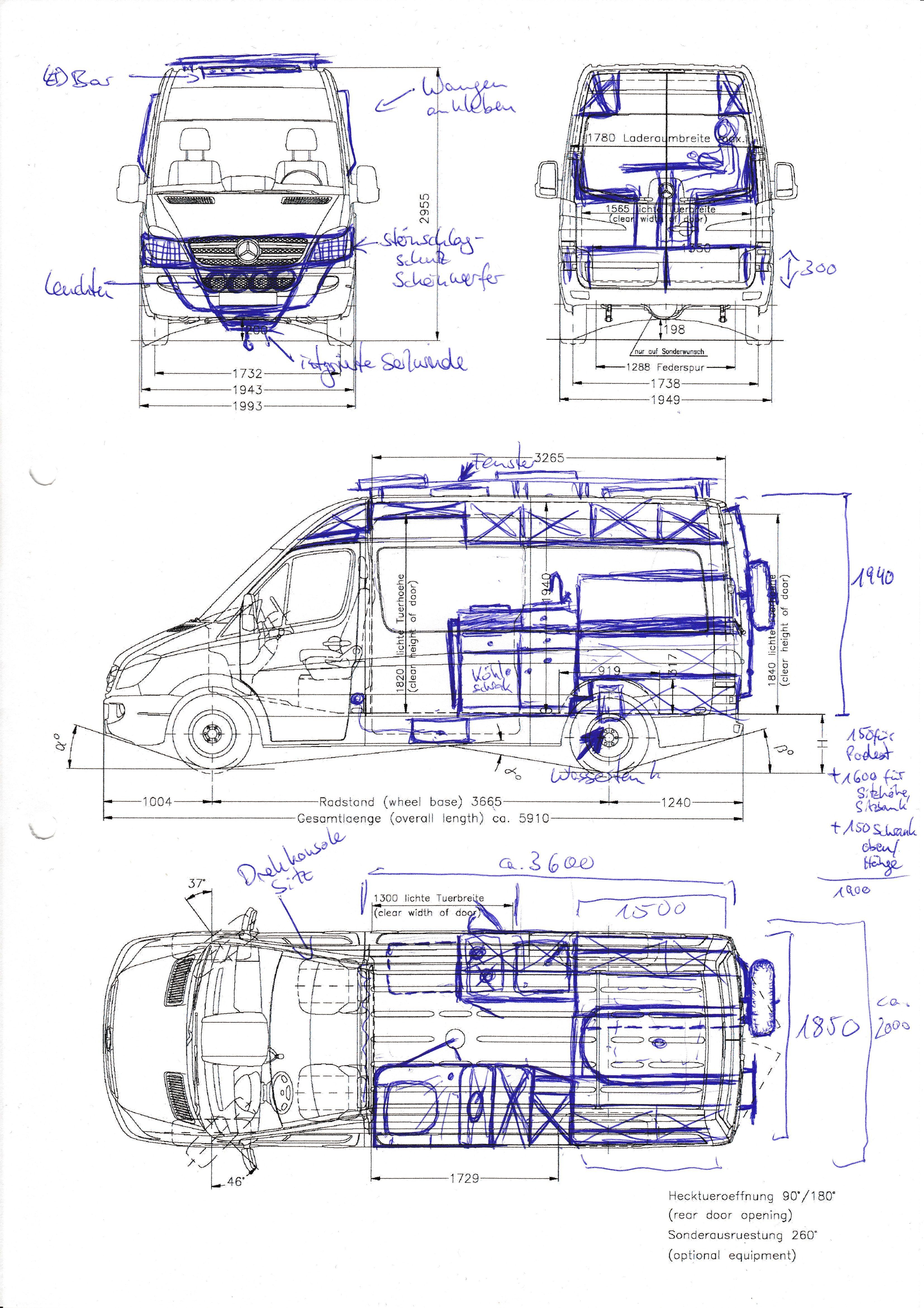 Scribble 1 Sprinter Camper van conversion diy, Mercedes