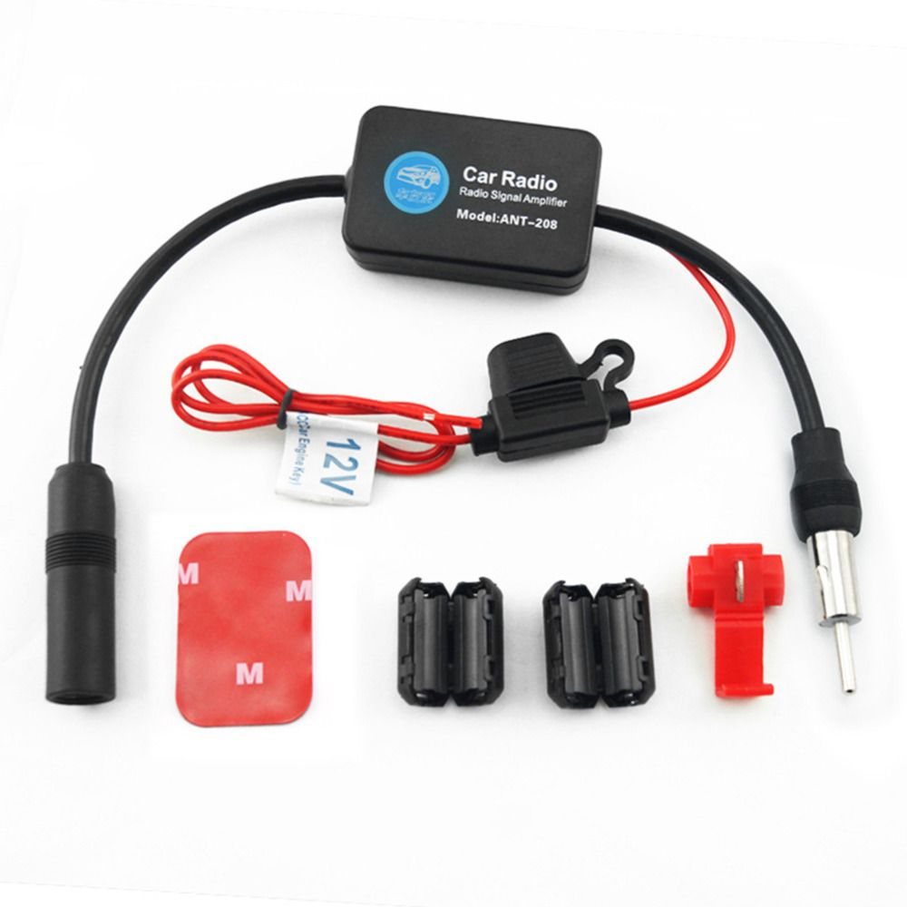 Car Radio Signal Amplifier Automobiles Radios Am Fm Amplifier Transmitters Antenna Booster Black Universal New Car Radio Signal Boosters Radio