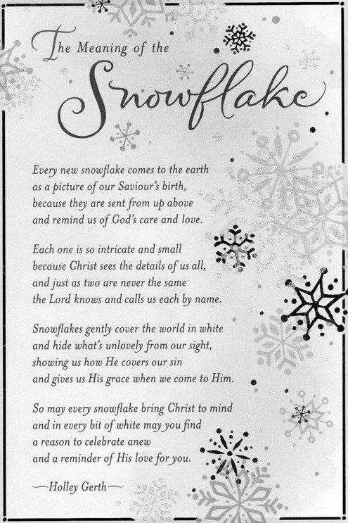 Christmas Readings.The Meaning Of The Snowflake Christmas Isn T Just For Kids