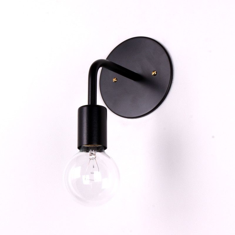 Bon This Is A Single Hardwired Wall Sconce. Hand Bent Steel Tubing In Durable  Powder