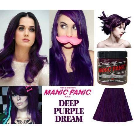 tinte fantasía de pelo morado manic panic deep purple dream
