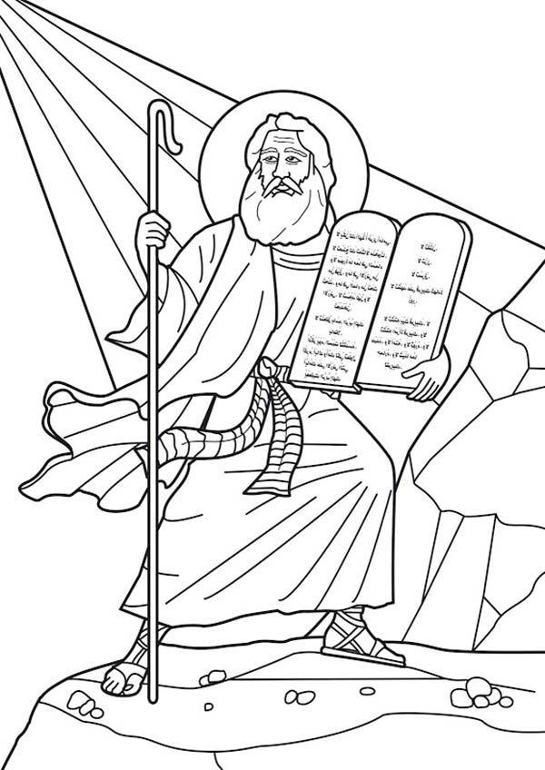 Ten Commandments Moses At Mount Sinai Receives The Ten