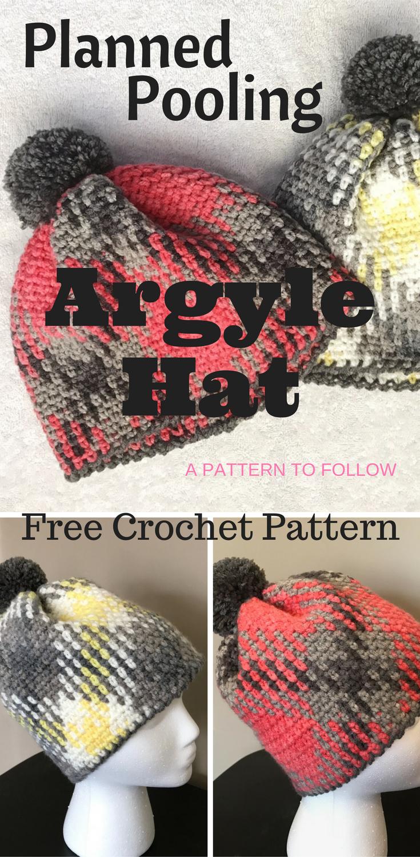 Planned Pooling Argyle Hat | Gorros crochet, Gorros y Gorro tejido