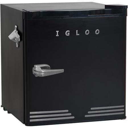 igloo cu ft retro compact with side bottle opener sleek retro bottle cu ft steel pull door basketice cube