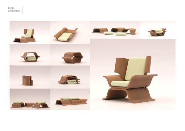 Els C1 Modular Chair Modular Chair Modular Furniture Compact Furniture