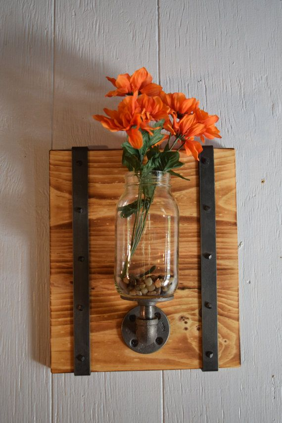Hey, I found this really awesome Etsy listing at https://www.etsy.com/listing/462762956/mason-jar-wall-sconceindustrial-sconce