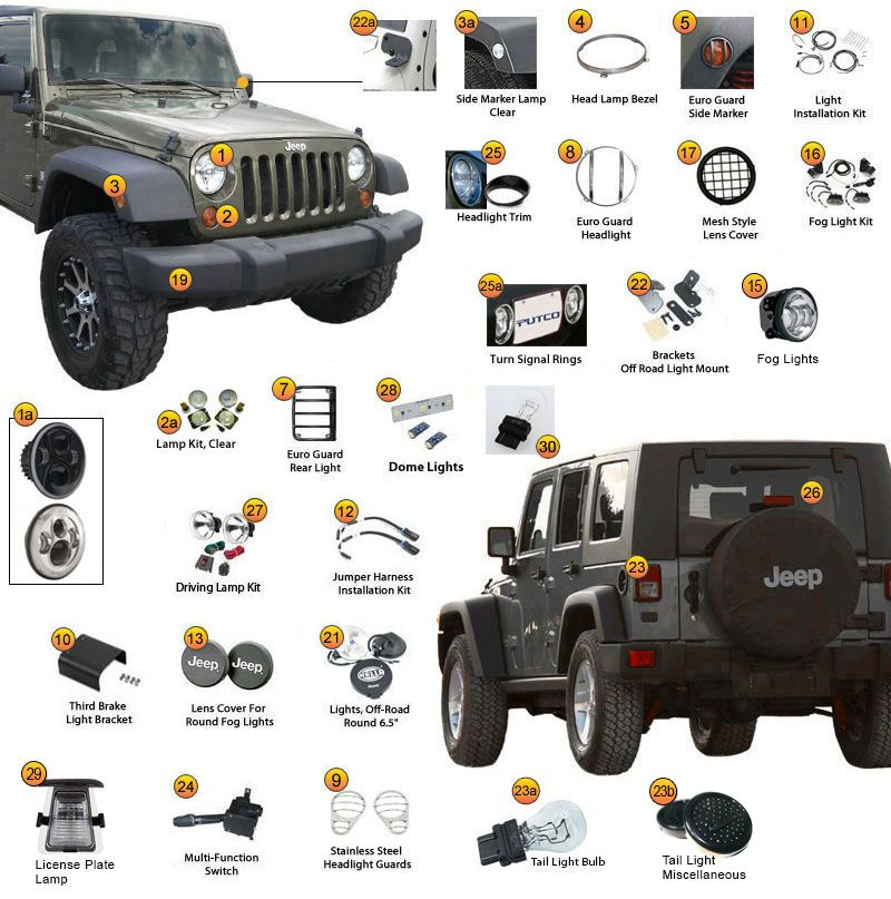 Jeep Wrangler JK Easy Lighting http//www.jeep4x4center