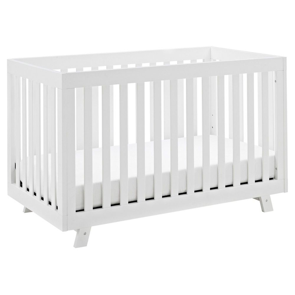 With Its Modern Design And Timeless Details The Storkcraft Beckett 3 In 1 Convertible Crib Will Instan Storkcraft Convertible Crib White Baby Cribs Convertible