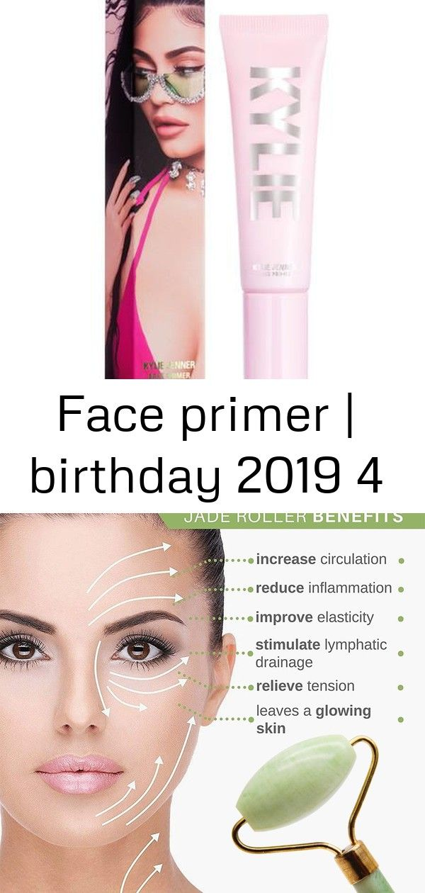 Face primer  birthday 2019 4 Face Primer  Birthday 2019  Kylie Cosmetics by Kylie Jenner Double Head Facial Massage Roller Jade For Face Slimming Body Head Neck Price  10...