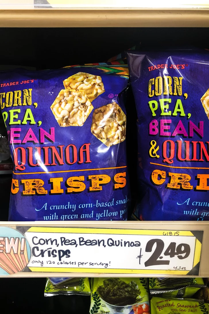 Next Time You Re Craving A Crunchy Snack Try One Of These Healthier Chips From Trader Joe S Healthy Chips Snacks Crunchy Snack