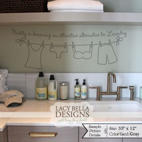 Is Becoming An Attractive Alternative To Laundry Vinyl Wall Decal Home Decor