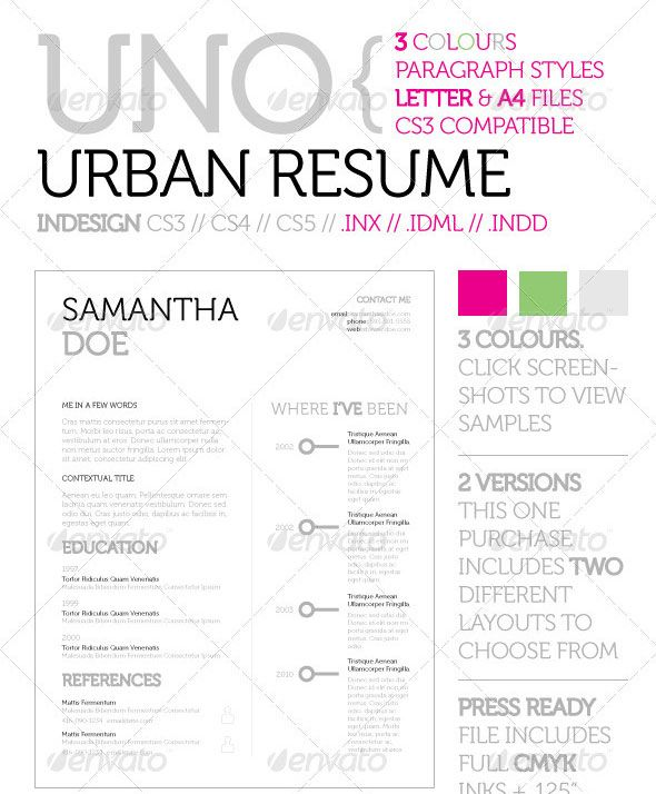 Free Adobe Indesign Resume Templates #838 - http\/\/topresumeinfo - adobe indesign resume template