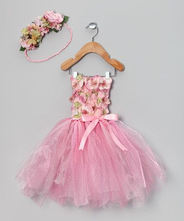 Save Now on this Pink Antique Fairy Dress & Halo by Enchanted Fairyware Couture on #zulily today!