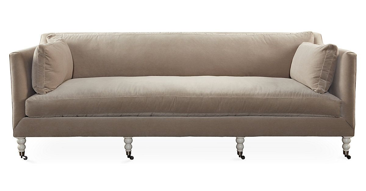 Charmant Defined By Its Luxe Velvet Upholstery, Boxy Track Arms, And Beautifully  Turned Legs, This Chic Sofa Embodies Timeless Style And Sophistication.