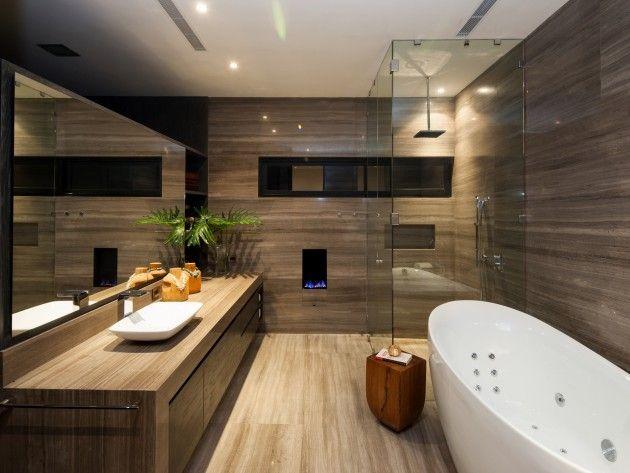 Salle de bain en bois   muj interier   Pinterest   Salle de bain ...
