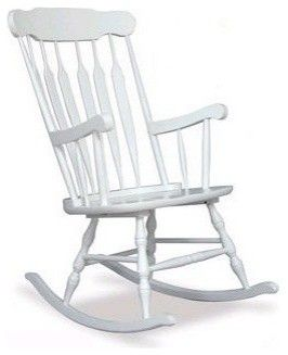 Rocking Chair For Nursery White Wooden Rocking Chair Rocking
