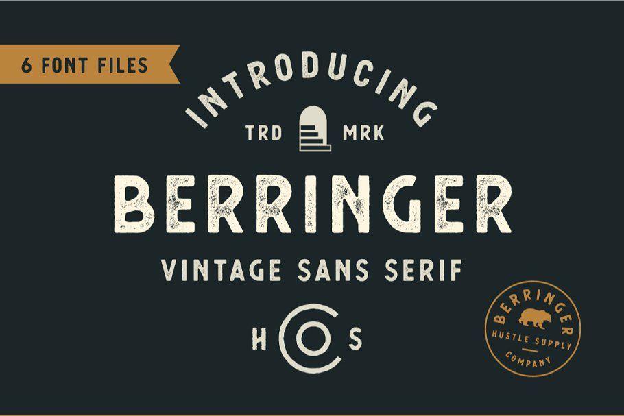 Berringer Vintage Type Family Vintage Fonts Vintage Type Serif
