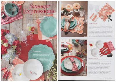 Peppermint Pinwheels red gingham napkins featured in Southern Lady Magazine.