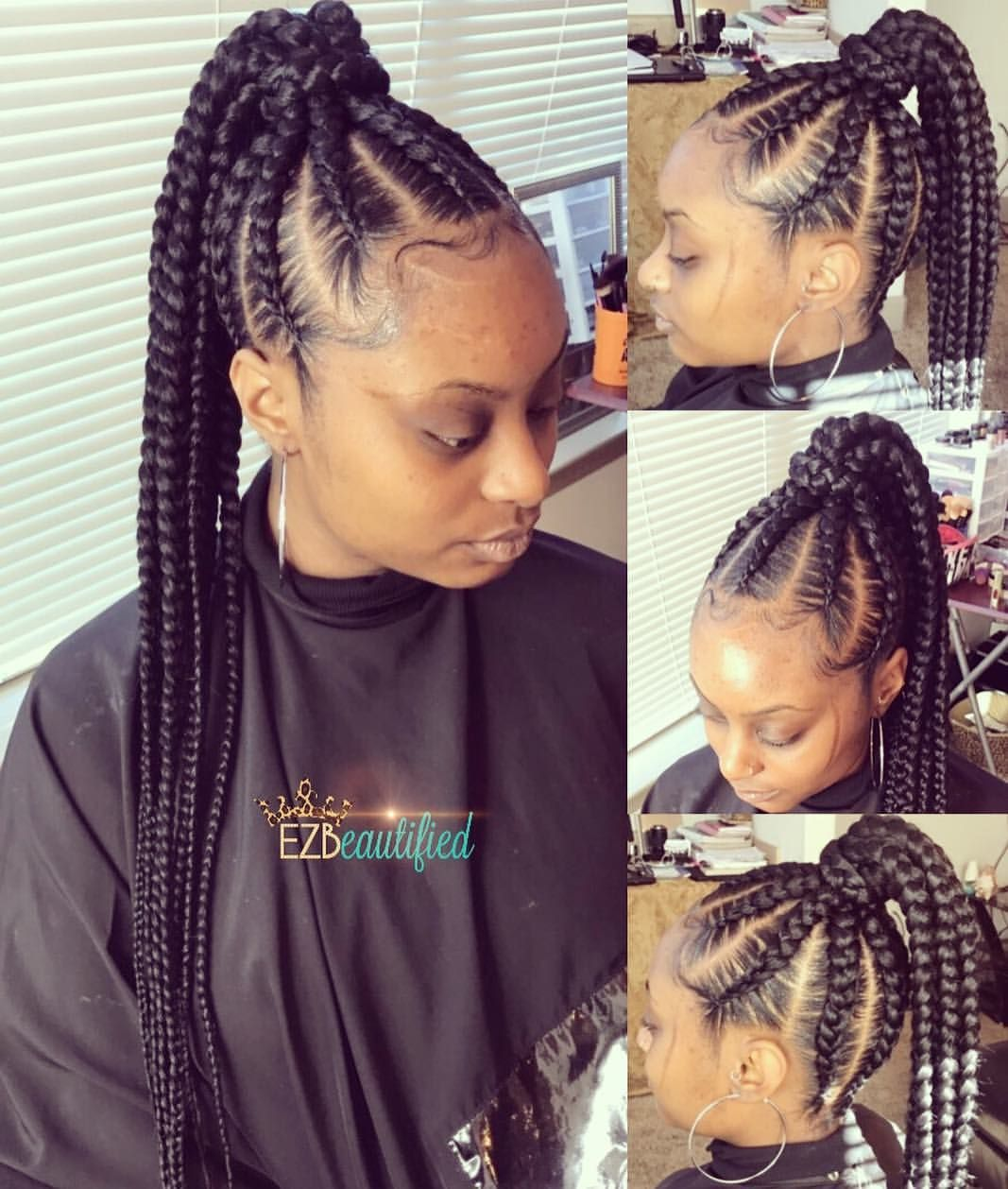 210 Likes 3 Comments Brejia Breejay Ezbeautified On Instagram High Basic Braided Ponytail I Have Braided Ponytail Ponytail Hairstyles Hair Styles