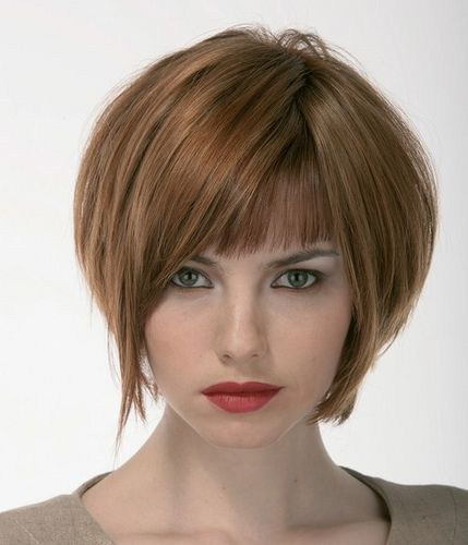 bob hairstyle. Like bangs but shape of sides is wrongshortportionofbangsneedstobshortertoo